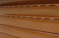 Tablier en aluminium chêne