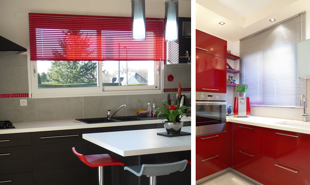 Store vénitien aluminium pour cuisine