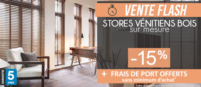store venitien bois sur mesure store v nitien sur mesure. Black Bedroom Furniture Sets. Home Design Ideas