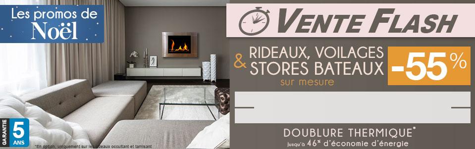 venez d couvrir nos nouvelles gammes sur mesure rideaux voilages et stores bateaux jusqu 39. Black Bedroom Furniture Sets. Home Design Ideas