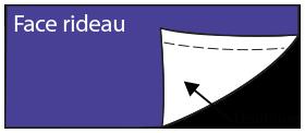 doublure tamisante blanche pour rideaux