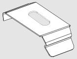 fixation plafond rail premium pour store trapèze