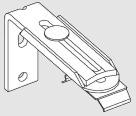 fixation murale equerre 60/108 mm pour store trapèze