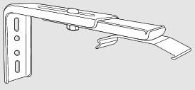fixation murale equerre 80/160 mm pour store trapèze