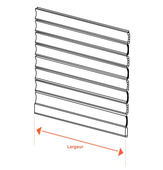 volet roulant 3m de large cool volet roulant tradi aluminium manivelle volet roulant tradi. Black Bedroom Furniture Sets. Home Design Ideas