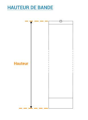 Hauteur de bandes verticales pour un kit de rénovation bandes seules californien