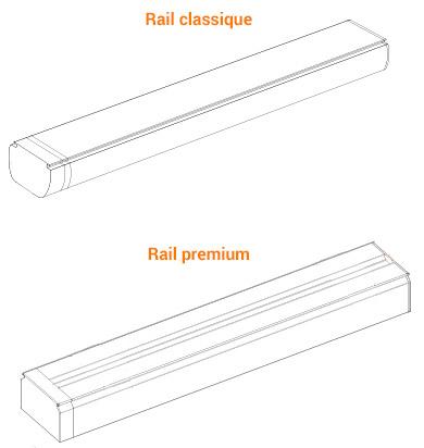 rail en aluminium pour store