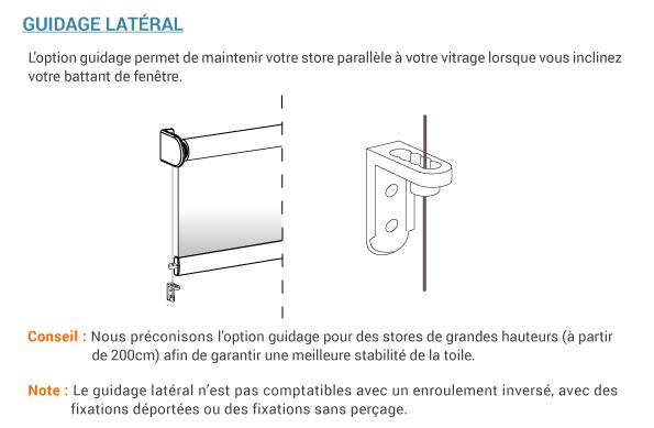 Guidage lat�ral pour store enrouleur sur mesure