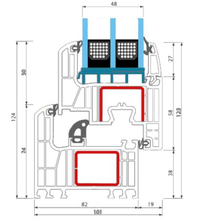 Fen tre pvc avec volet roulant stores for Profil pvc pour fenetre