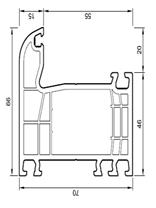 Descriptif gamme fen tre portes fen tres baie vitr es for Encadrement fenetre pvc