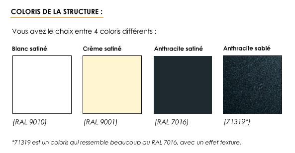 Coloris de la structure de votre pergola