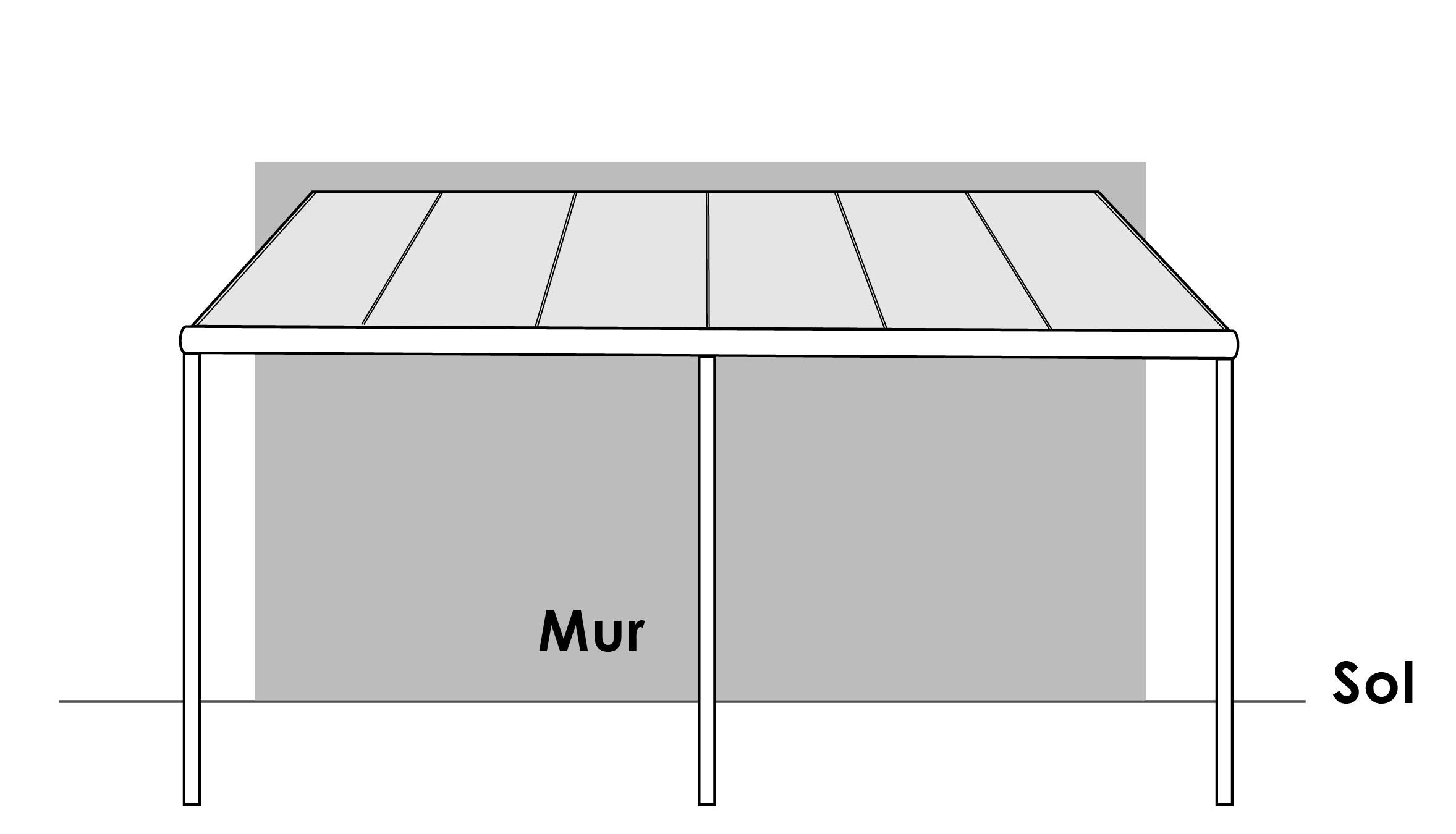 Plaque de polycarbonate leroy merlin plaque for Plaque polycarbonate pour pergola