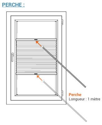 Splinternye ᐅ Store plissé up and down personnalisable - Stores-discount.com ZF-02