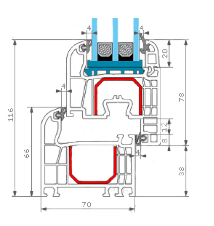 Porte fen tre pvc porte fen tre sur mesure stores - Profil fenetre pvc renovation ...