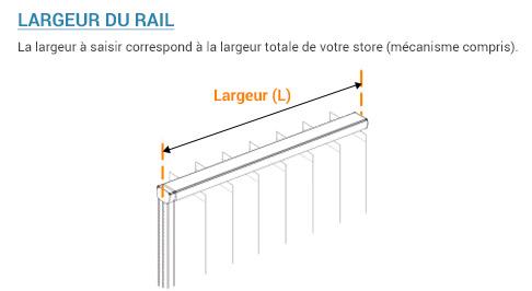 Largeur d'un rail seul pour californien sur mesure