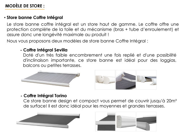 store banne coffre intégral - stores-discount