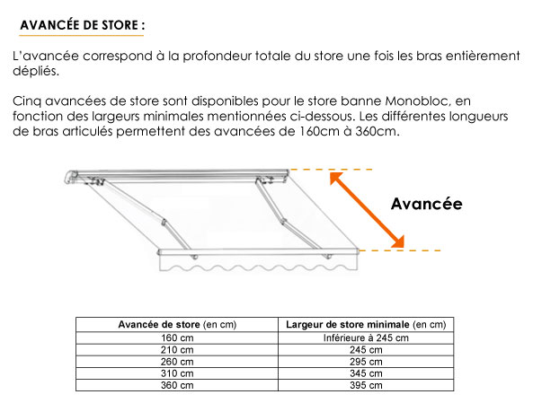 ᐅ Store Banne Monobloc Sur Mesure Stores Discount Com