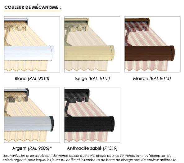 Couleur de m�canisme - store banne monobloc