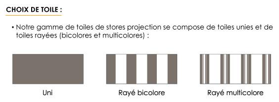 Choix de toile de votre store projection
