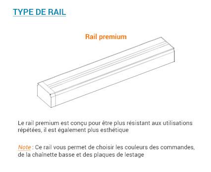 Type de rail pour un store trapeze sur mesure