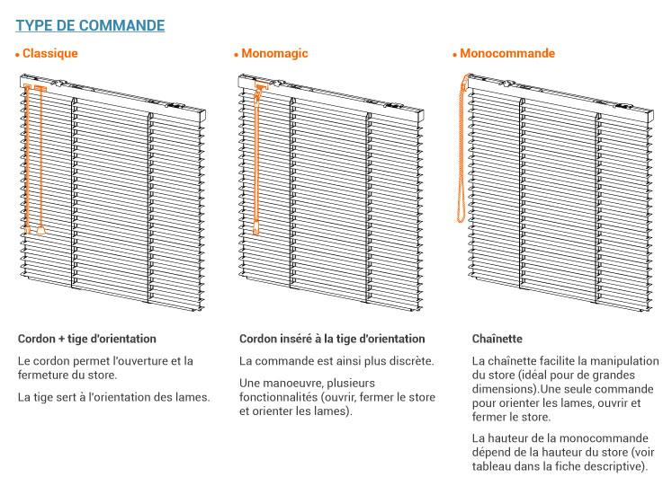 Trois types de commandes propos�es: classique, monomagic et monocommande.