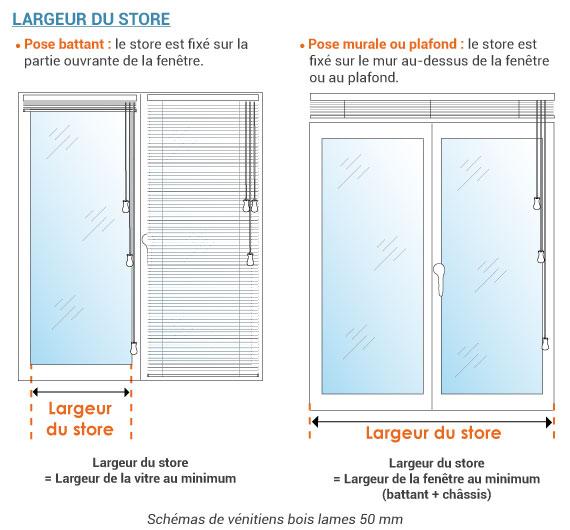 Chassis Bois Sur Mesure - Store vénitien bois sur mesure lames 25 ou 50 mm Stores discount